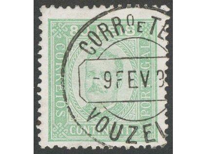 1892, 80 R Carlos, MiNr.73yB, razítkované