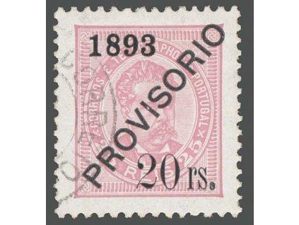 1893, 20 rs / 25 R Carlos, MiNr.93, razítkované