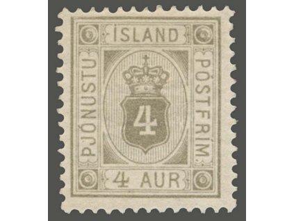1876, 4A služební, MiNr.9, * po nálepce