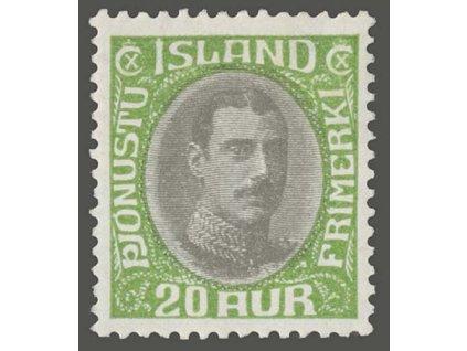 1920, 20A služební, MiNr.38, * po nálepce