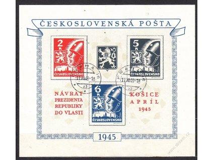 1945, 2-6K Košický aršík, Nr.A360/362, razítkovaný, ilustrační foto