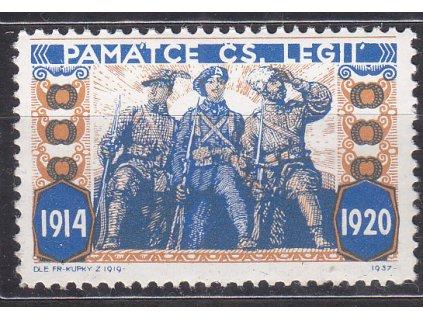 Fr. Kupka, nerealizovaný návrh na čs zn. pro Legionáře 1914-1920, **