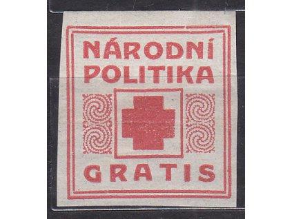 Novinová nálepka NÁRODNÍ POLITIKA GRATIS, Nr.NN17, * po nálepce