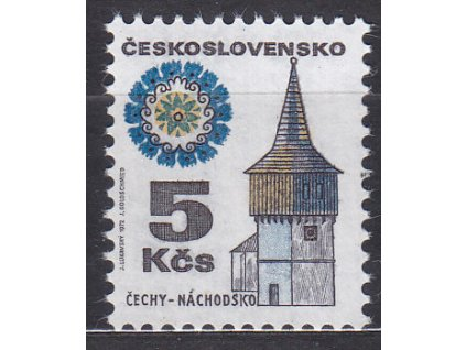 1972, 5Kčs Lid. architektura, papír fl2, Nr.1964yb, **