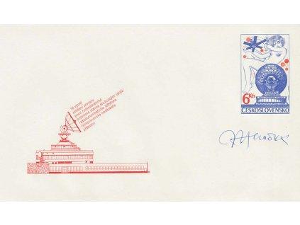 Herčík, podpis na celinové obálce z roku 1984