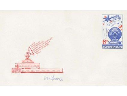 Strnad, podpis na celinové obálce z roku 1984
