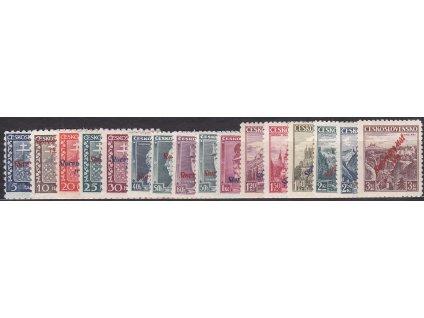 5h-3Kč, tzv. krátká série, mimo 60h modrý Štefanik, Nr.2-18, * po nálepce