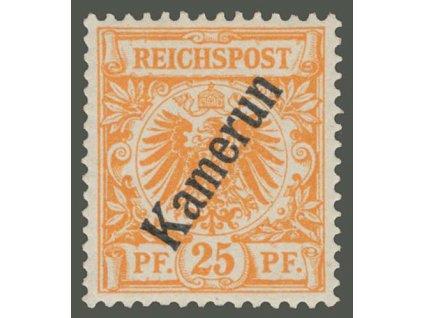 Kamerun, 1897, 25Pf Orel, MiNr.5, * po nálepce