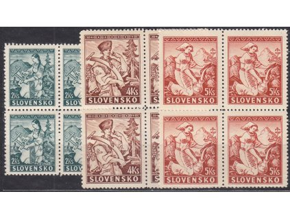 1939, 2-5Ks Lidové motivy, série, 4bloky, Nr.40-2, **, ilustrační foto