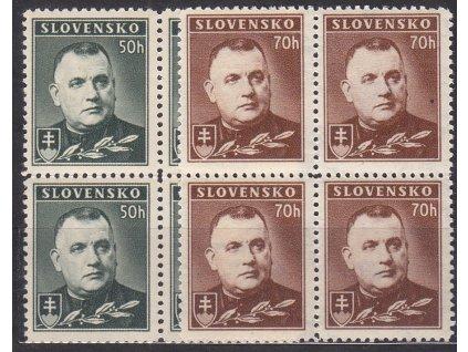 1939, 50-70h Tiso, série, 4bloky, Nr.43-4, **, ilustrační foto