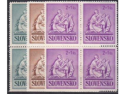 1941, 50h-2Ks Dětem, série, 4bloky, Nr.62-4, **, ilustrační foto