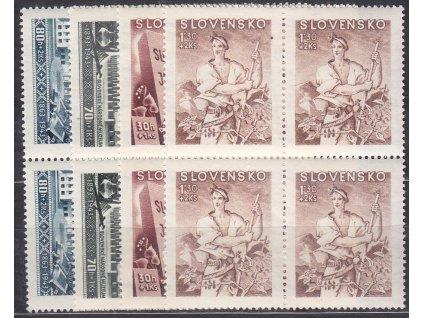 1943, 30h-1.30Ks Kulturní, série, 4bloky, Nr.94-7, **, ilustrační foto