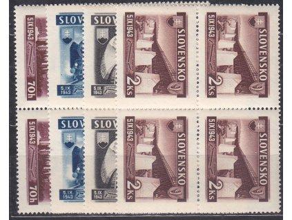 1943, 70h-2Ks Železniční, série, 4bloky, Nr.90-3, **, ilustrační foto