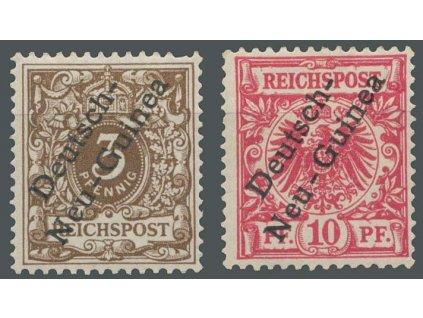 Neu Guinea, 1897, 3Pf a 10Pf, MiNr.1,3, těžší *