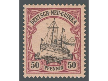 Neu Guinea, 1900, 50Pf Lodička, MiNr.14, **