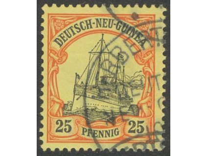 Neu Guinea, 1900, 25Pf Lodička, MiNr.11, razítkované