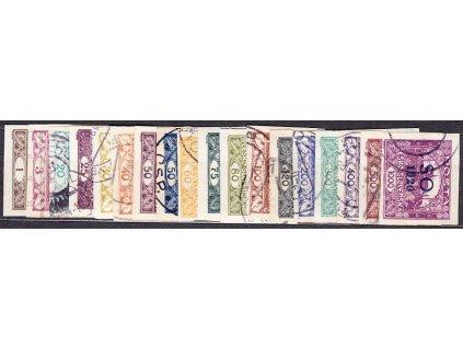 1-1000h série, Nr.SO1-23 bez Nr.SO3-7, razítkované, ilustrační foto