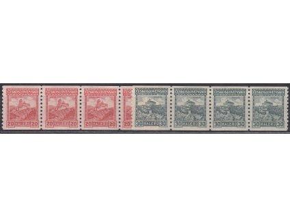 1926, 20 a 30h svitkové 4pásky, průsvitka 8 resp. 7, Nr.209A,210A