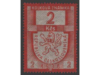 2Kčs 1938M, ** , kolková známka