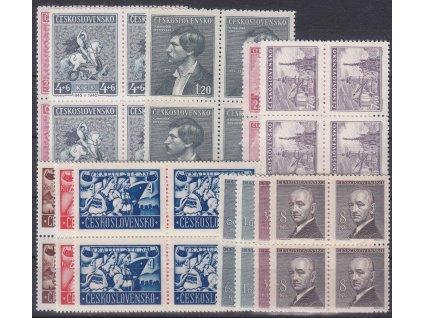 1946, ročník známek ve 4bloku, ** , ilustrační foto
