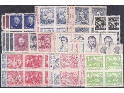 1948, ročník známek ve 4bloku, ** , ilustrační foto