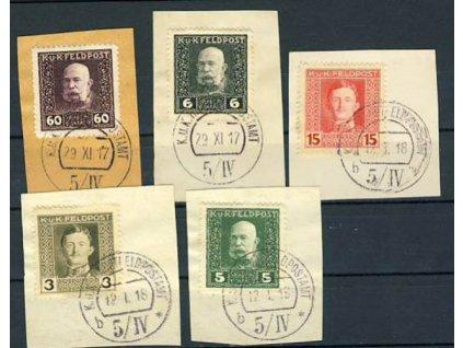 No.5/ IV, 5 kusů výstřižků, Ra.750bd