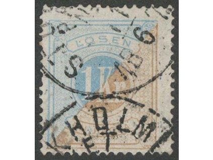 1874, 1 Kr doplatní, MiNr.10A, razítkované, dv