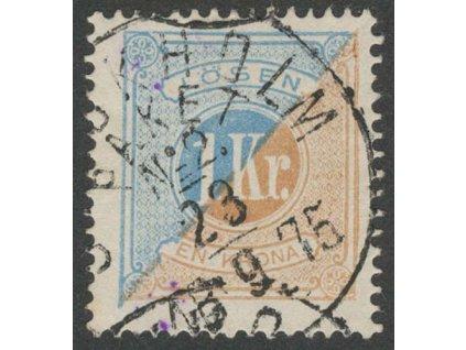 1874, 1 Kr doplatní, MiNr.10A, razítkované