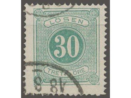 1874, 30 Ö doplatní, MiNr.8A, razítkované