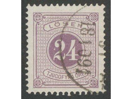 1874, 24 Ö doplatní, MiNr.7B, razítkované