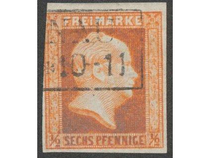 Prusko, 1859, 1/2 Sgr Vilém, MiNr.13, razítkované