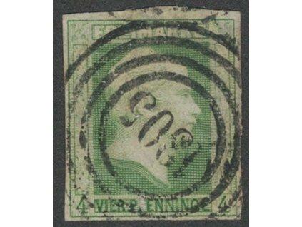 Prusko, 1856, 4 Pf Vilém, MiNr.5, razítkované, lehce nastřiženo