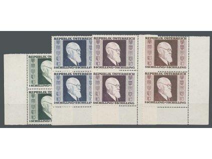 1946, 1-5S série Renner, 2pásky, MiNr.772-75A, **