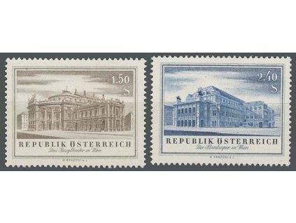 1955, 1.50-2.40S série Divadlo, MiNr.1020-21, **