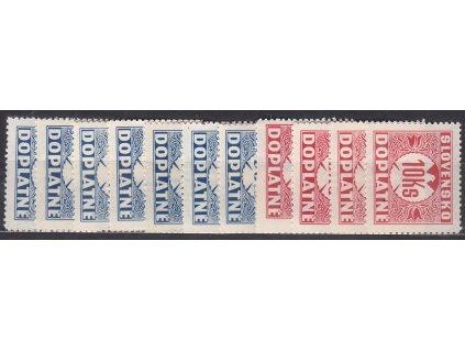 1940, 5h-10Ks Doplatní série s průsvitkou, Nr.DL13-23, **, ilustrační foto