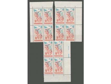 1981, 50h Volby, rohové 4bloky, Nr.2490, **