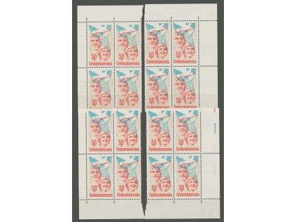 1981, 50h Volby, rohová miniatura, Nr.2490, **