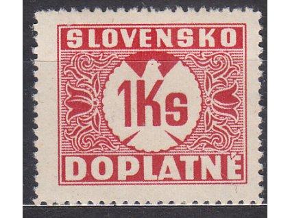 1939, 1Ks Doplatní, svislý rastr, Nr.DL8, **