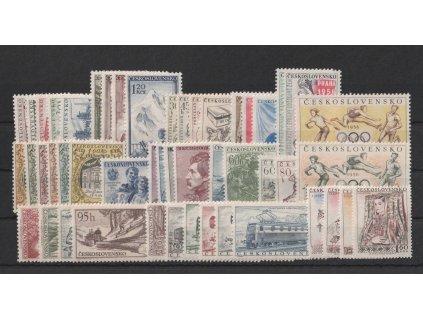 1956, kompletní ročník výplatních známek, ** , ilustrační foto