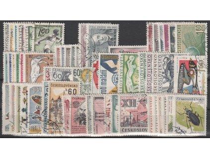 1962, kompletní ročník výplatních známek, razítkované, ilustrační foto