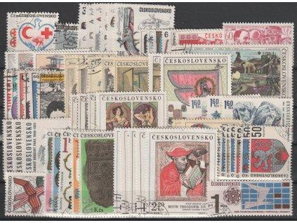 1969, kompletní ročník výplatních známek, razítkované, ilustrační foto