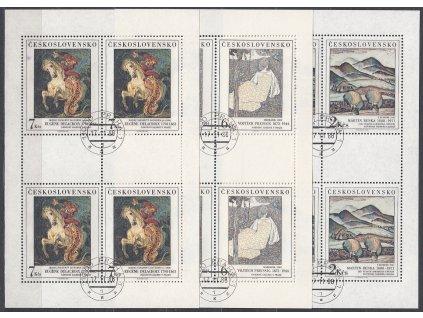 1988, 2-7Kčs PL - Umění, Nr.2870-72, razítkované, denní razítko
