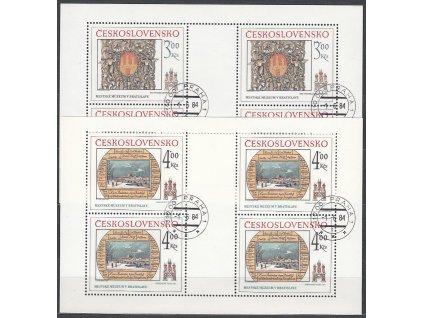 1984, 3-4Kčs PL - Bratislavské motivy, Nr.2650-1, razítkované, denní razítko
