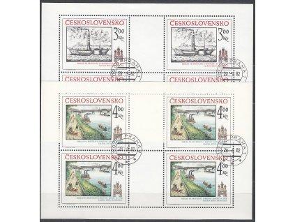 1982, 3-4Kčs PL - Bratislavské motivy, Nr.PL2555-6, razítkované, denní razítko