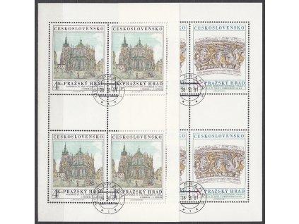 1981, 3-4Kčs PL - Pražský hrad, Nr.2511-12, razítkované, denní razítko