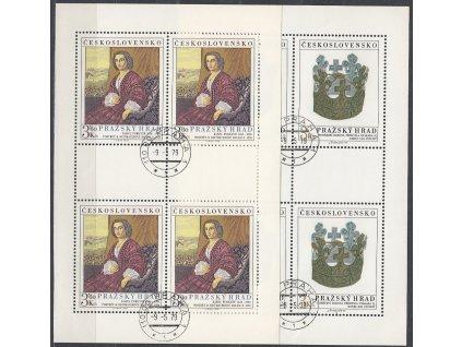 1979, 3-3.60Kčs PL - Pražský hrad, Nr.PL2376-7, razítkované, denní razítko