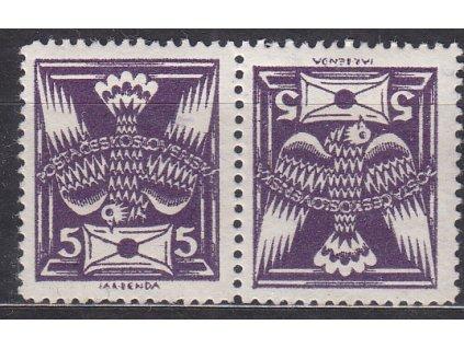 5h fialová, úzká protichůdná dvojice, Nr.144TBa, * po nálepce