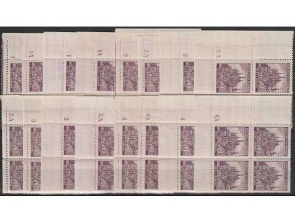 1939, 60h Kutná Hora, roh. 4bloky s DČ1-1A-4,4A, Nr.30, **