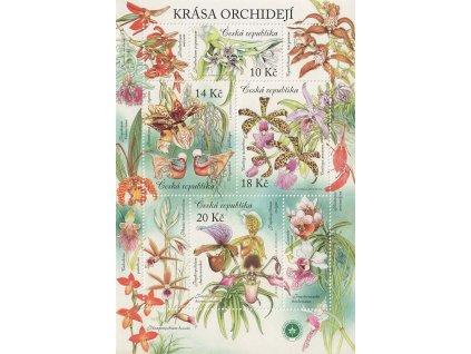2012, 10-20Kč aršík Orchideje, Nr.A730-33, **