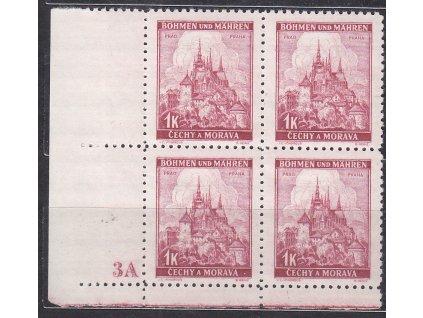 1939, 1K Praha, roh. 4blok s DČ 3A - úzký okraj, Nr.31, **
